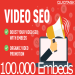 Video SEO Bomb - 100,000 Video Social Embeds with backlinks and PR9 Signals that bring organic views