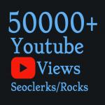 I will Add 50,000 Quality Youtube vie'ws