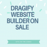 Dragify website builder on sale with lifetime licence