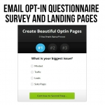 Unlimited Email Opt-In Survey/Questionnaire Landing Pages