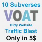 Dirty Website Massive Traffic Blast on Voat post in 10 subverses