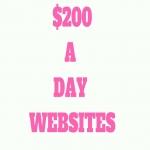 Provide 200 money making websites.
