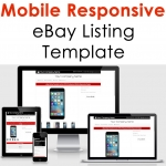 Ebay Listing Template Design Auction Mobile Professional Responsive Html Custom
