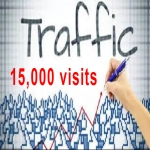 For 5 dollars we will drive 15,000 web traffic for 30 days