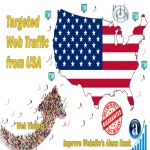 send real targeted geo traffic web visitors from USA