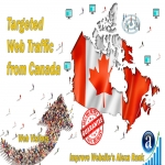 send real targeted geo traffic web visitors from Canada