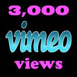 Instant 3000 Vimeo Views in under 12 hours