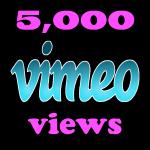 Instant 5000 Vimeo Views in under 12 hours