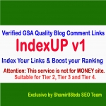 IndexUP v1 - 3,000 Verified GSA Quality Blog Comment Links