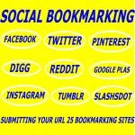 provide Manually create 100 pr 8-10 social bookmarking backlinks