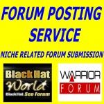 Provide manually create 30 forum posting service