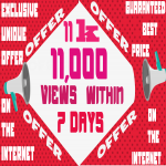 Get 11000 Video Views