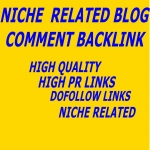 provide High Quality Niche Related 50 do follow blog comment service