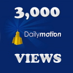 3,000 DailyMotion Views Instant Start