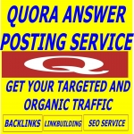INCREASE ORGANIC TRAFFIC+UPVOTE BY 20 QUORA ANSWER WITH CLICKABLE LINK