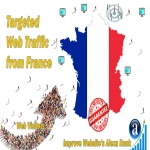 Send 50.000 France web visitors real targeted geo traffic