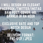 ,  twitter,   cover,  banner,  post DESIGN in an hour