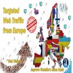 Send 25.000 Europe web visitors real targeted geo traffic