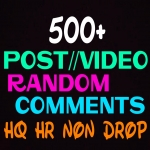 Add 500+ Comments for social posts or photos instantly