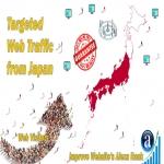 Send 50.000 Japan web visitors real targeted geo traffic
