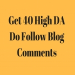 I can create 40 dofollow blog comments