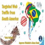 Send 25.000 South America web visitors real targeted geo traffic