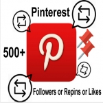 give you 500+ Real Pinterest Permanent Followers or Repins or Likes