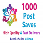 Add Instant 1000 High Quality Post Saves
