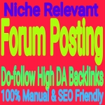 100 High Quality Forum Posting Backlinks Service
