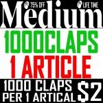 Buy 1000 Medium Claps for 1 Article