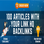 Added 100 Articles With Your Link HQ backlinks