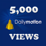 5,000 DailyMotion Views IIn 24-48 Hours