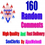 Authentically Instant Add 160 High Quality Random Post Comments