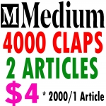 Buy 4000 Medium Claps on 2 Articles 2000Claps/1Article