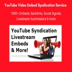 Get 1500 Viral YouTube SEO Embeds 500 Livestream Submissions,  Backlinks,  Signals