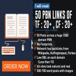 Add 50 Pbn Links Tf 15 For Top 3 Ranking On Google