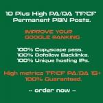 Create 10 Plus High PA/DA TF/CF Homepage PBN Backlinks to Improve SERP