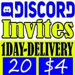 Buy 20 Discord Invites 1 Day Delivery