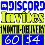 Buy 60 Discord Invites 1 Month Delivery