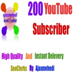 Genuine 200+ YouTube Subscribers High Quality with Non Drop Guarantee