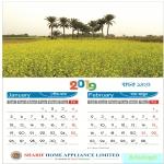 Wall Calendar 2019 amizing design template