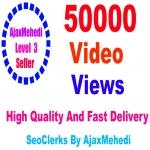 Do Genuine Viral Promotion 50000 HQ Social Media Post Video views Non Drop Guarantee
