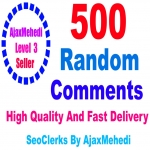Do Genuine Promotion 500 High-Quality Random Post Comments from Stable Accounts