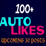 Add 100 real auto post or photo Lkes professionally