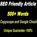 500+ words SEO friendly article that will pass copyscape