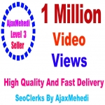 Do Genuine Viral Promotions 1 Million High Quality Social Media Post Video viewss Non Drop Guarantee LifeTime license