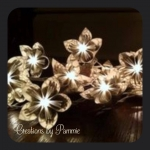 Handmade Lighted Paper Floral Garland