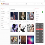 Full Responsive Best Wallpapers PHP Script
