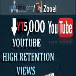 Non drop 5000+ Video views HR Best for SEO