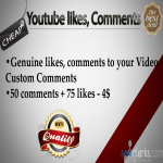 give you 50 Unique positive youtube comments and 75 likes to your youtube video within 24 hours